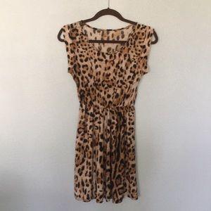 Casual animal print sun dress.
